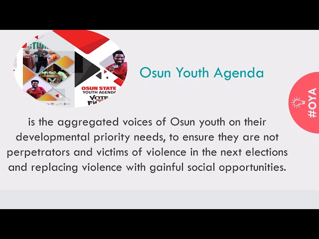 ALL ABOUT OSUN YOUTH AGENDA
