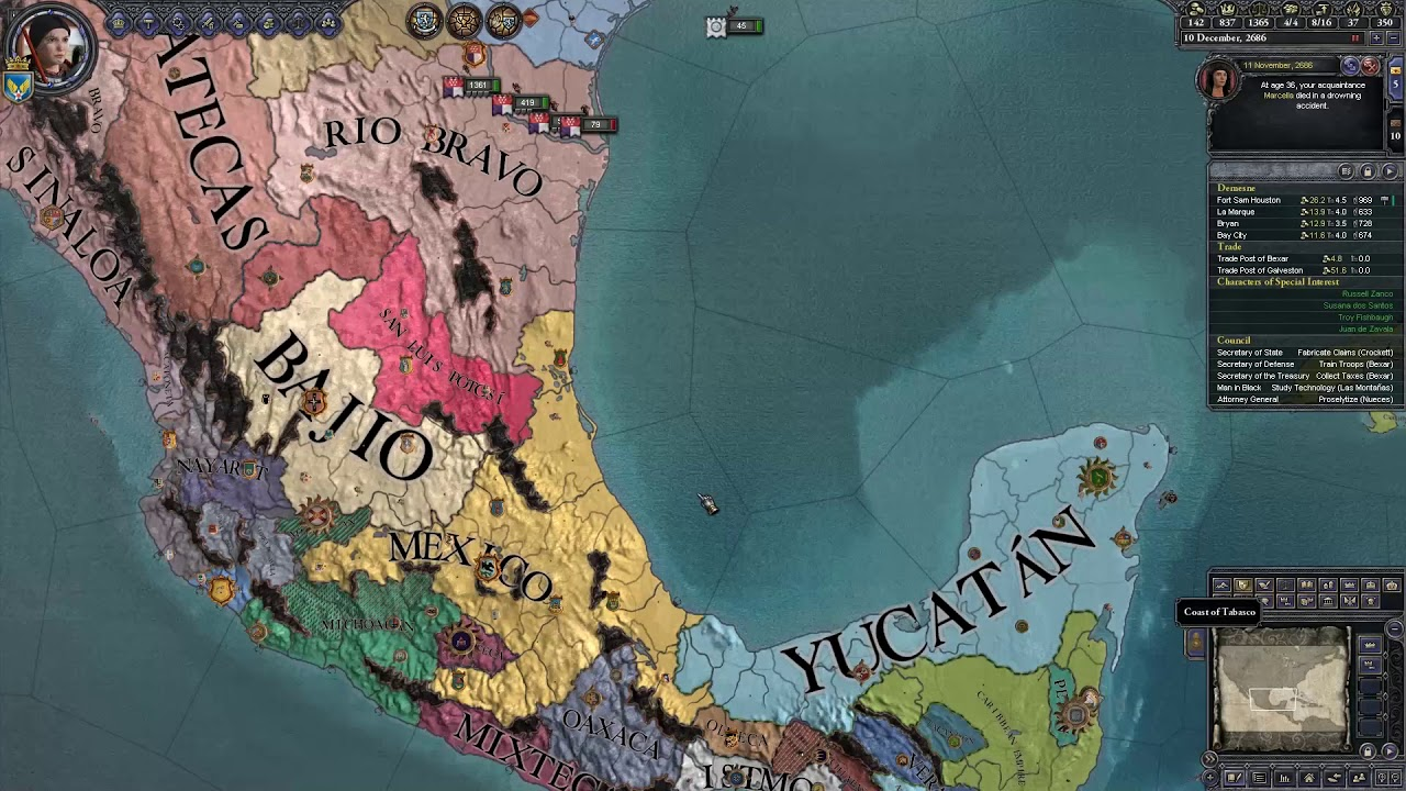 CK2 - After the End v0 4 : Americanist Texas - Episode 4: Rise of the Men  in Black