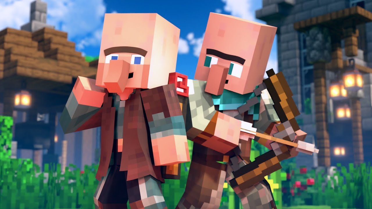 Download SAVE THE VILLAGE - Alex and Steve Life (Minecraft Animation)