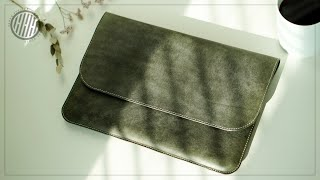[Leather Craft] Making a leather laptop case