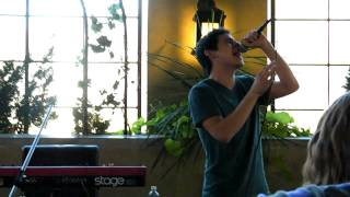 David Archuleta singing Elevator- Patio Party S. Jordan UT