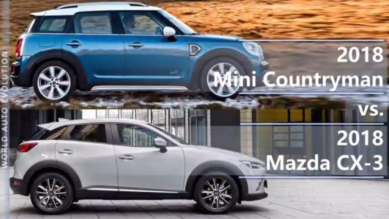2018 Mini Countryman Vs 2018 Mazda Cx 3 Technical Comparison Youtube