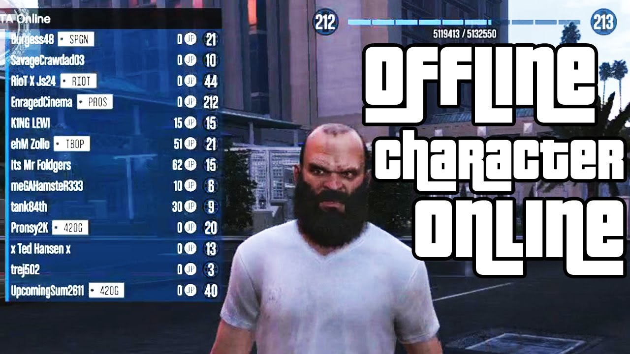 Gta5 use offline character online ec youtube gta5 use offline character online ec voltagebd Image collections