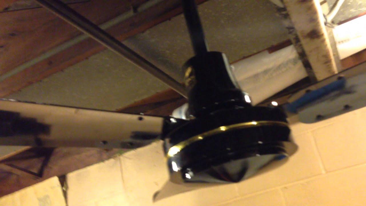 Gloss black envirofan gold line industrial ceiling fan model 160f 7 c 2014 youtube - Little max ceiling fan ...