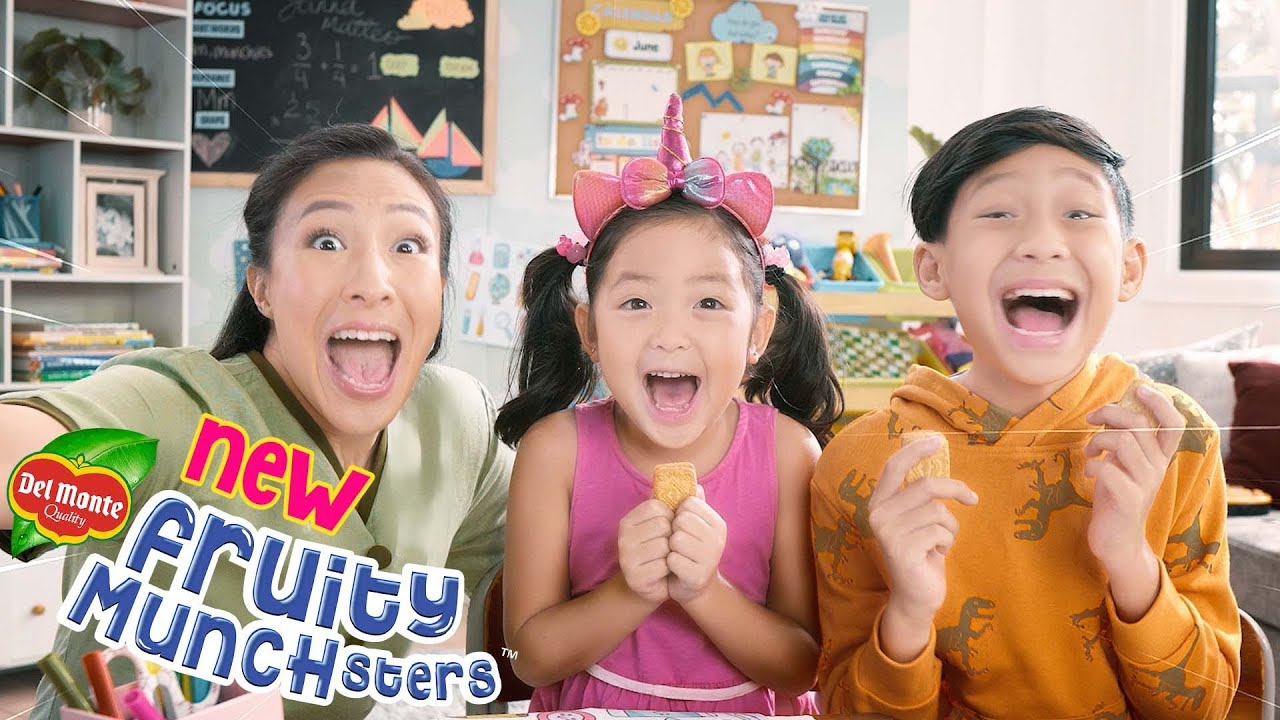 Sa sarap, ang munchster lalabas na!! TRY the NEW Del Monte Fruity Munchsters!