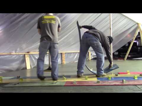 Walttools and Crew Demonstrate the use of the New Centennial Plank Wood Stamp Set at the WOC2017