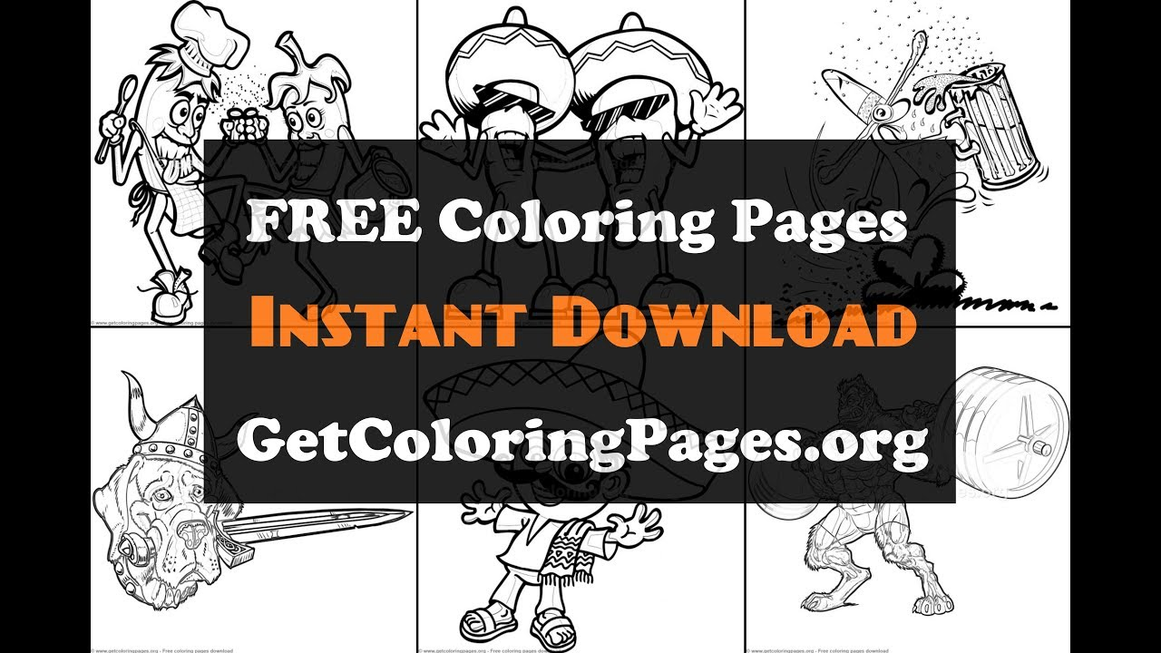 Mexican Cartoon Character Coloring Book Pdf