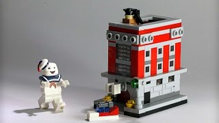 How to Build - Lego microscale Hook & Ladder #8 ( The Ghostbuster HQ )