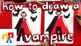 How To Draw A Vampire(How to draw a vampire for kids! We're so excited for Halloween, it's one of our favorite seasons of the year. No better way to start it off than a drawing of the count ..., 2015-10-01T12:57:30.000Z)