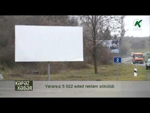 Yararsız 5 022 ədəd Reklam Sökülüb - Kəpəz TV
