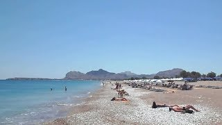 Beaches of RHODES  island, Greece. Ladiko, Anthony Quinn & Traganou.