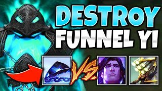 #1 XERATH WORLD VS. FUNNEL STRAT!! TARIC + YI GET OWNED! (ft. Heizman) - League of Legends