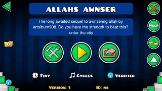 Allah's Awnser - By Domzinic (verification)