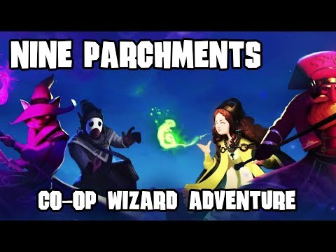 Nine Parchments Co-op - Wizarding Students Adventuring through Trine