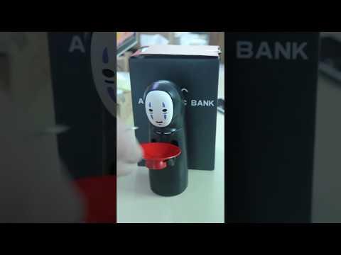Spirited Away No face Piggy Bank with Fun Electric Music