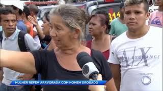 ブラジル 人質交渉 麻薬中毒男 女性の首にナイフ 牛刀を近ずけ人質に ベレン パラ州