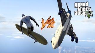 "SAMOLOTY VS SILVER SURFER W GTA V SINGLEPLAYER - ""SUPERBOHATER MARVELA"" #344"