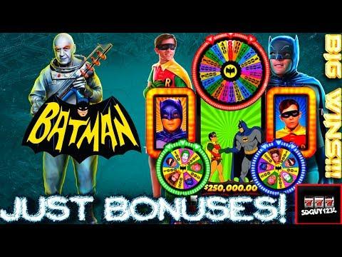 Batman Slot Machine LIVE PLAY and BONUSES - Big Wins!