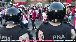 River Plate fans clash with police ahead of final