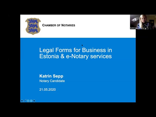 E-Residency Webinar: How to choose a suitable form of business in Estonia?