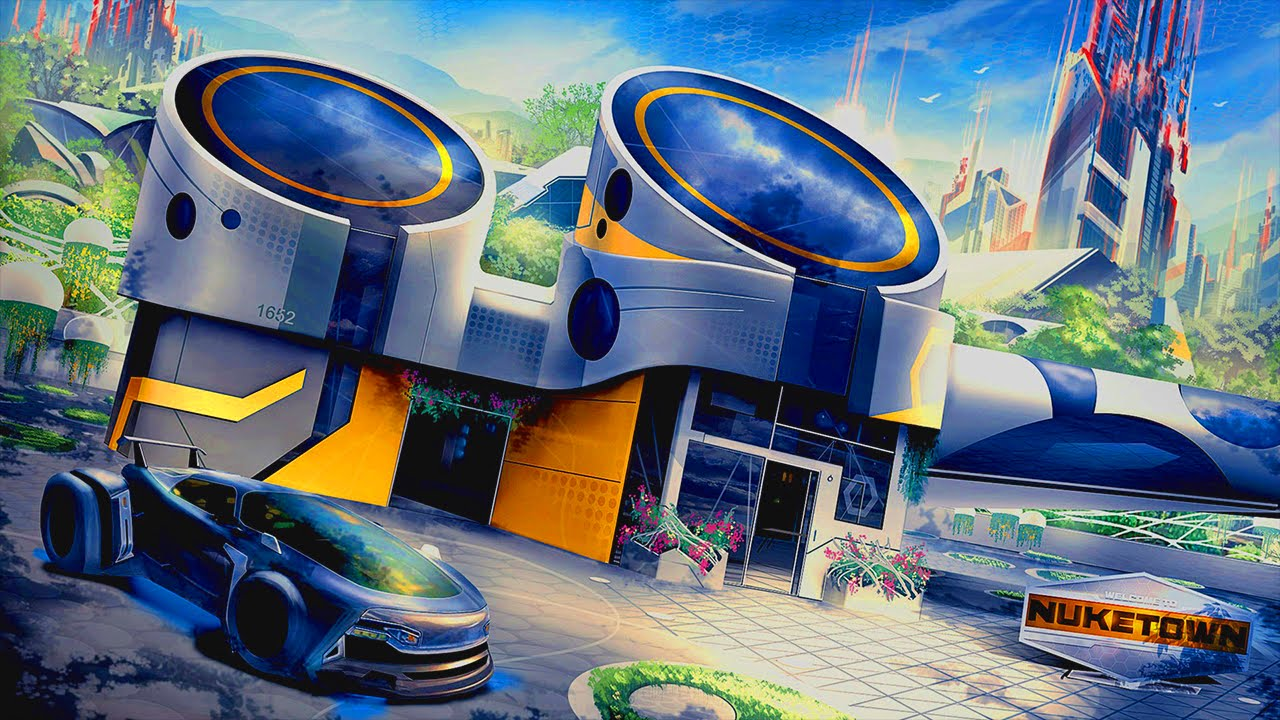 FIRST LOOK - Nuketown 2065 (Call of Duty Multiplayer) - YouTube