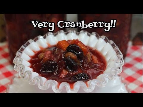 Sweet Cranberry Chutney ~  Make Ahead Thanksgiving ~Cranberry Sauce Recipe ~  Noreen
