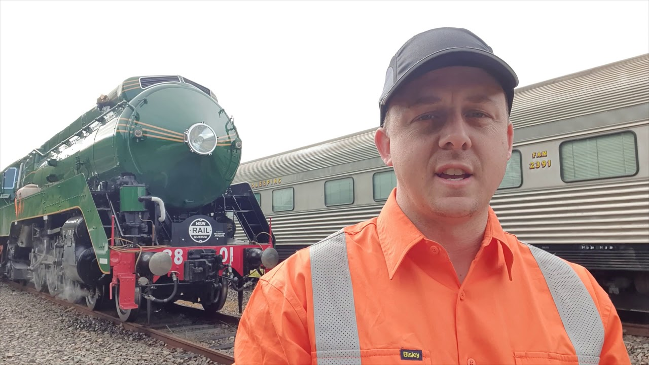 Locomotive 3801 adhesion test