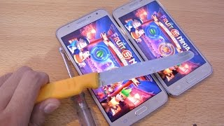 samsung galaxy j7 vs j5 knife test hd