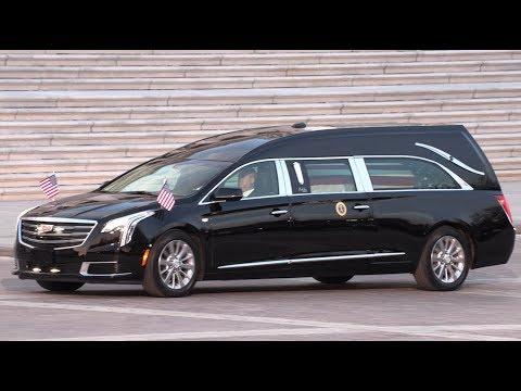 Late former U.S. President George H.W. Bush returns to U.S. capital for final salute - 4K Ultra HD