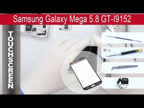How to replace 🔧 📱 Digitizer (Touch screen) Samsung Galaxy Mega 5.8 I9152