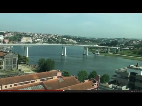 Alfa Pendular Train - High Speed - Great view leaving Porto Station - Portugal - HD