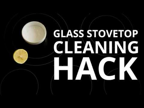 how to clean glasstop stov