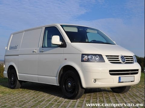 vw transporter t5 with multivan highline bumpers youtube. Black Bedroom Furniture Sets. Home Design Ideas