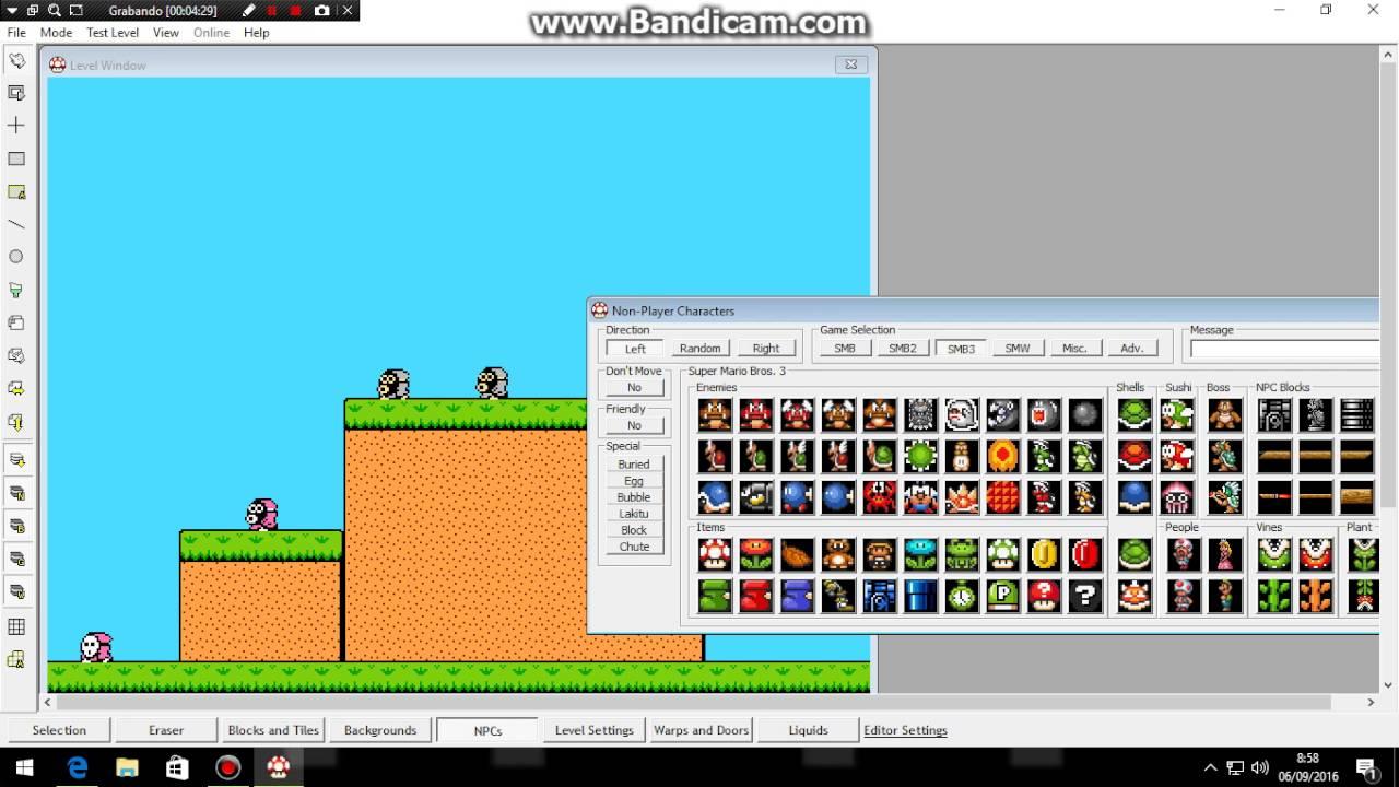 super mario bros x level editor descargar