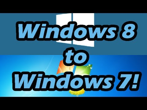 how to remove windows 8.1 and install windows 7