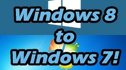 How to downgrade from Windows 8/8.1 to Windows 7