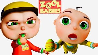 Zool Babies Playing Egg and Spoon  Zool Babies Series  Cartoon Animation For Kids