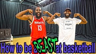 How To Be A Beast at Basketball | James Harden & K Spade's Free Tutorial Featuring QJB