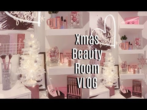 Christmas Beauty Room Makeover