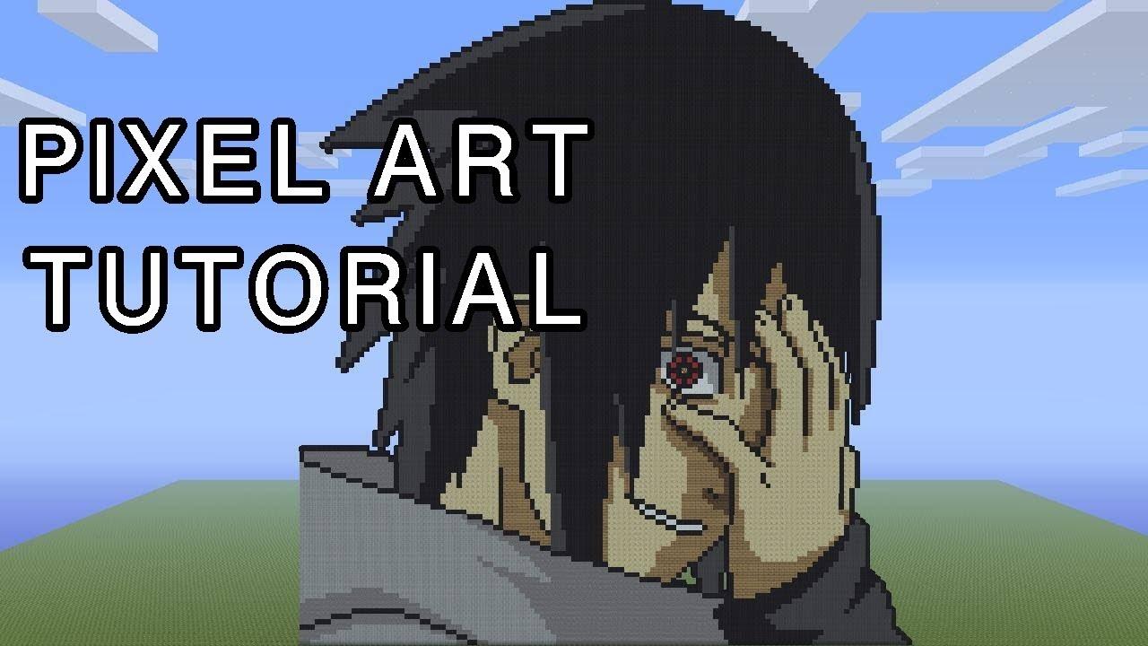 Minecraft Pixel Art Tutorial Sasuke Uchiha Youtube