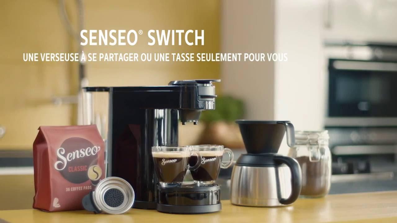 senseo switch machine caf dosettes et filtre youtube. Black Bedroom Furniture Sets. Home Design Ideas
