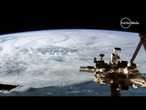 Cyclone Debbie seen from space by NASA, ISS