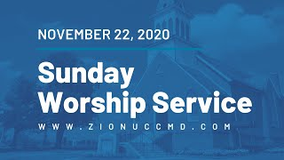 Sunday Worship Service - November 22, 2020