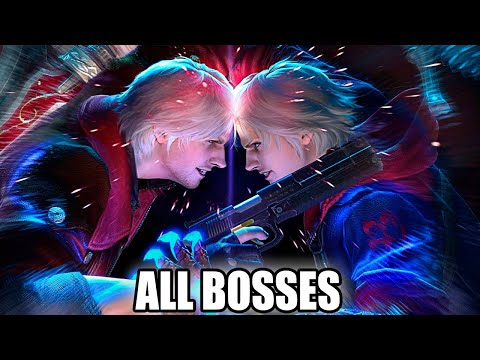 Devil May Cry 4 SE - All Bosses (With Cutscenes) HD