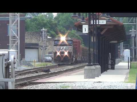 Busy NS Amtrak Railfanning Salisbury NC 7-5-19 Ft Rail Train RS3L