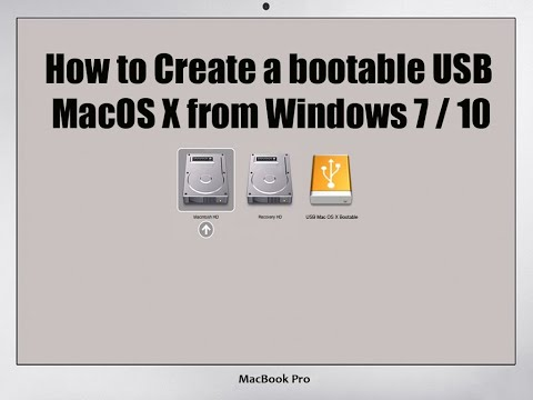 How To Create Mac OS X USB Bootable From Windows 7/10 (Tagalog Tutorials)
