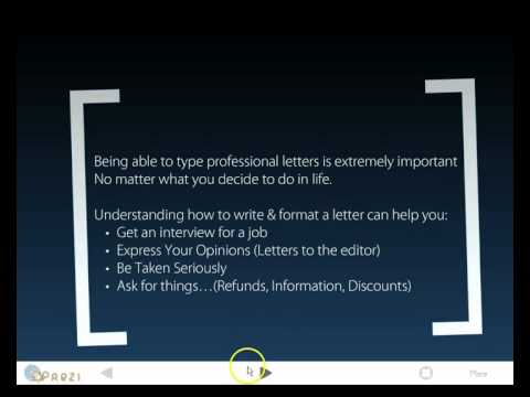 Prezi Introduction to letter writing