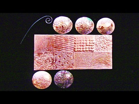 Doming A Textured Piece Of Copper While Maintaining The Texture
