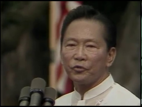 State Visit Philippines, Arrival Ceremony for President Marcos on September 16, 1982