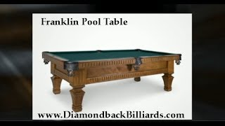 Franklin Pool Table Solid Wood 480-792-1115 By Olhausen